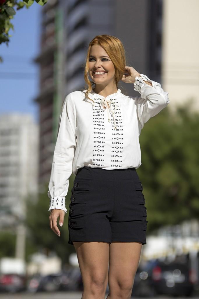 Blog Cris Moreira - como usar blusa com gola de laço - 1