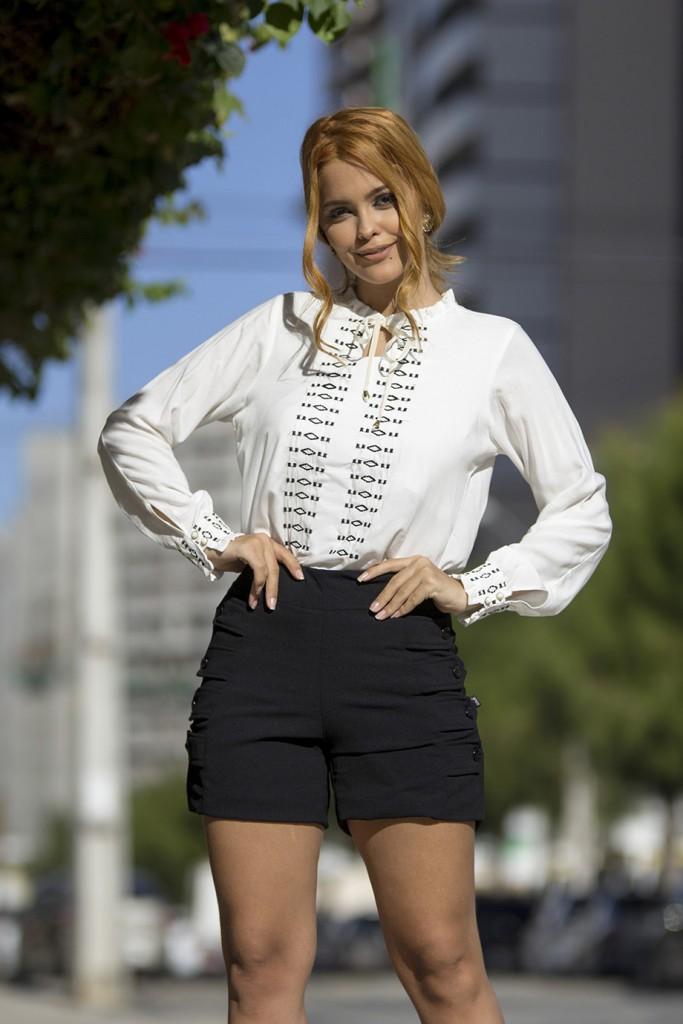 Blog Cris Moreira - como usar blusa com gola de laço - 2